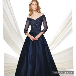 Montage by MonCheri 3/4 length sleeves gown